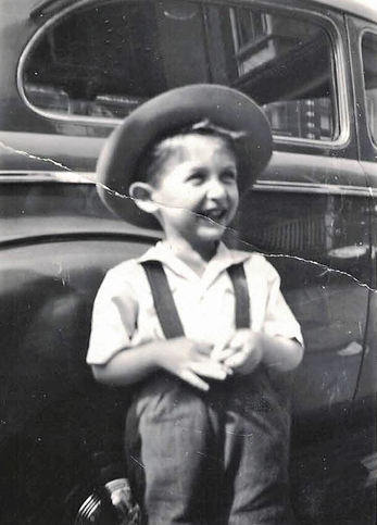 Jackie with hat & car