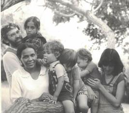 QUarter family at Kibbutz 1980