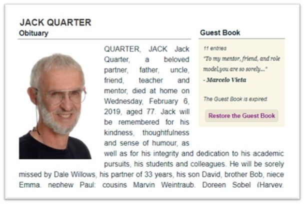 Obituary Toronto Star
