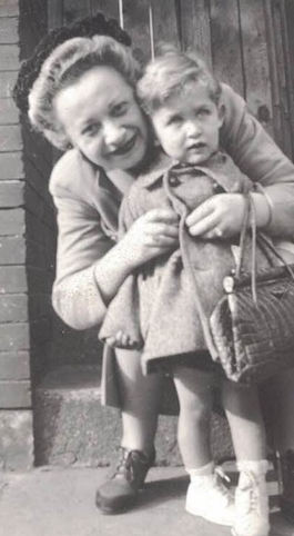 Little Jackie with loving Auntie at about age 3