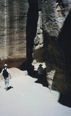 Jack & Dale in the Siq at Petra Jordan 2