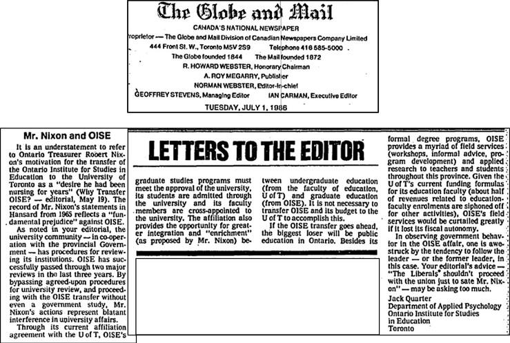Mr Nixon and OISE Letter to Ed 1986.jpg