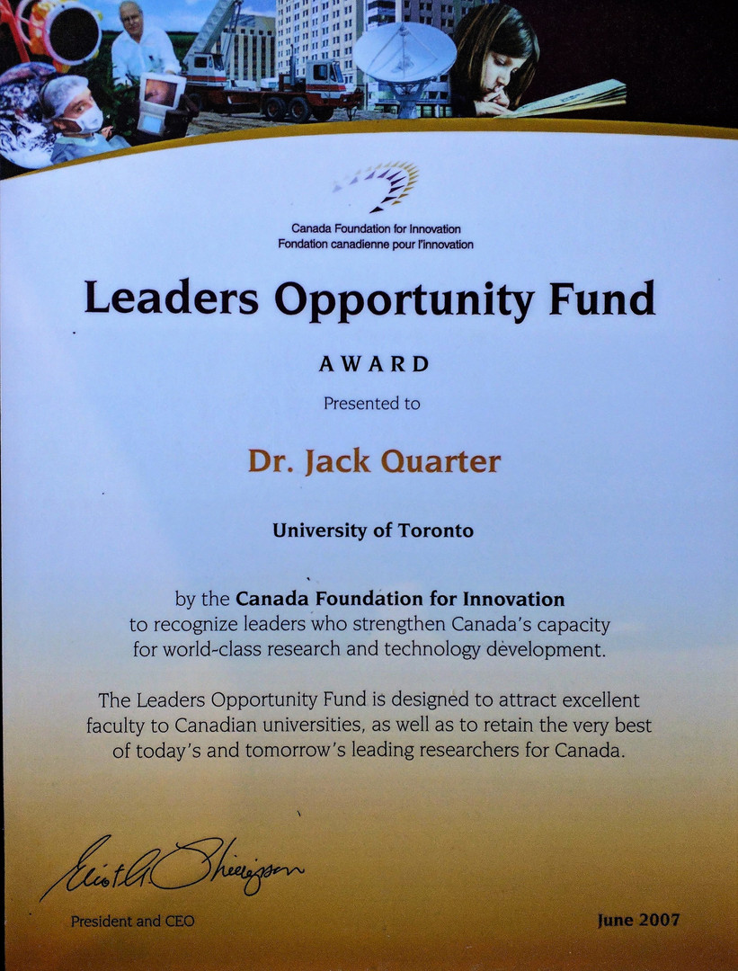 Canada Foundation for Innovation Award e