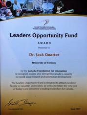 Canada Foundation for Innovation Award e