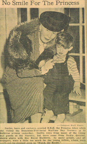 Little Jackie with Princess Alice