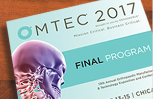 Dr. Scott Bruder to Participate as Keynote Presenter at Upcoming Orthopaedic Manufacturing & Tec