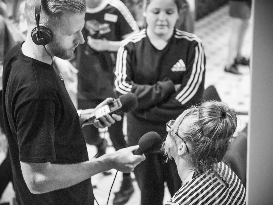 Workshop - Sound with Phoebe Davies at Wildcard Amateur Boxing Club Liverpool 2019