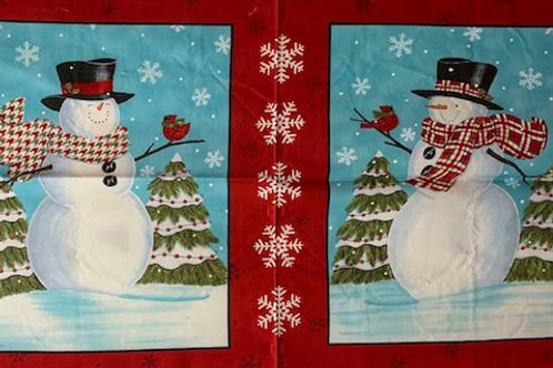 Red snowmen panel