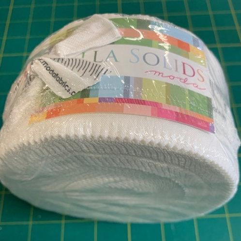 Bella Solids white jelly roll