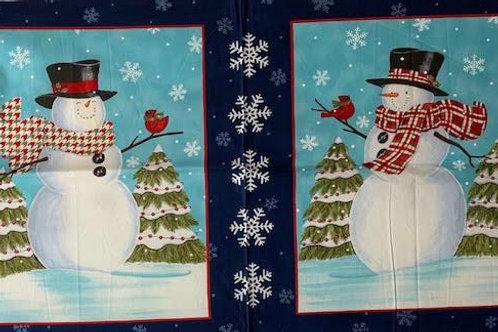 Blue snowmen panel