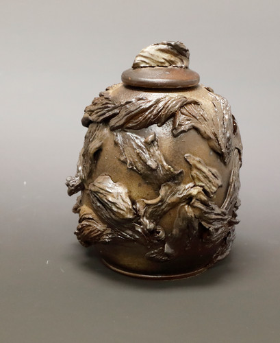 Textured Brown Jar DAY.JPG