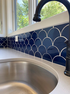 Cobalt Blue Backsplash