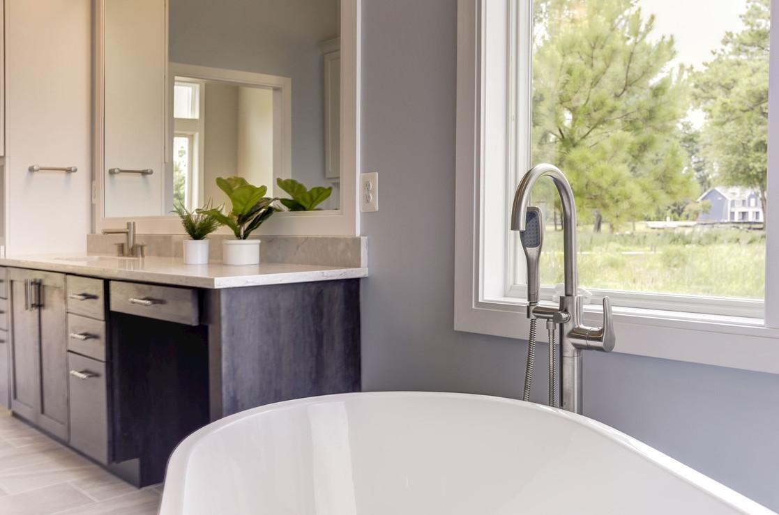 Bathroom design for custom home in Saint Michaels, MD