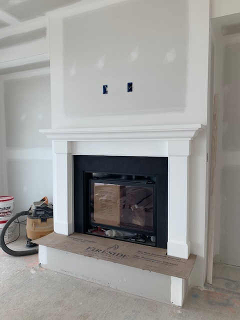 Fireplace and Mantle at 711 Riverview Terrace