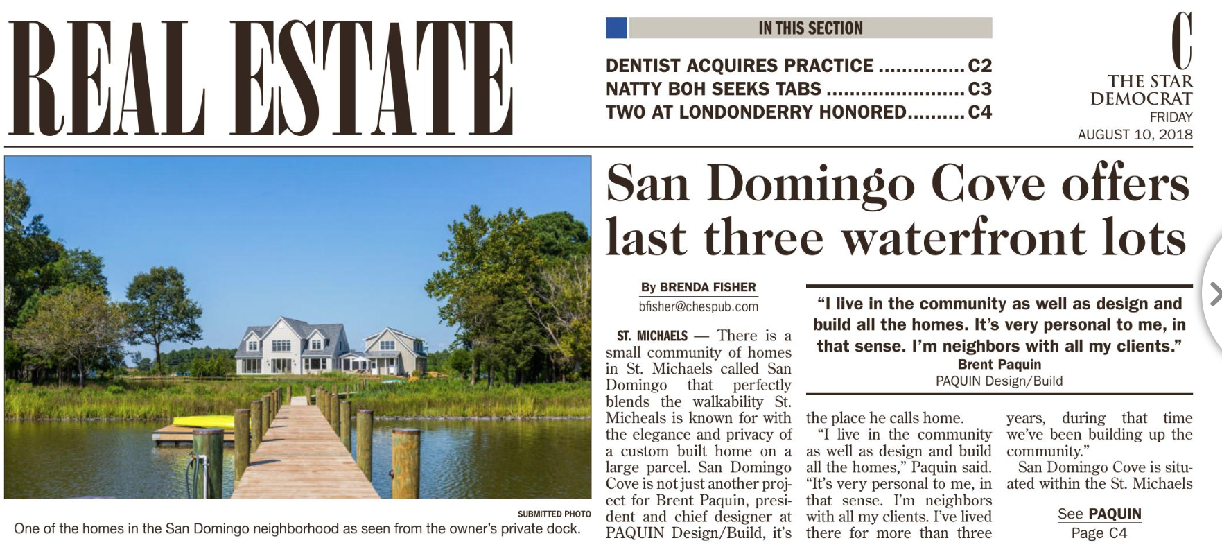 San Domingo Cove offers last three waterfront homes   Custom
