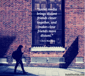 Social media brings distant friends closer together