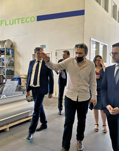25 - The Minister for Industry, Crafts and Commerce of the Republic of San Marino visits Fluiteco