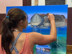 ellie painting elephant rocks.jpg