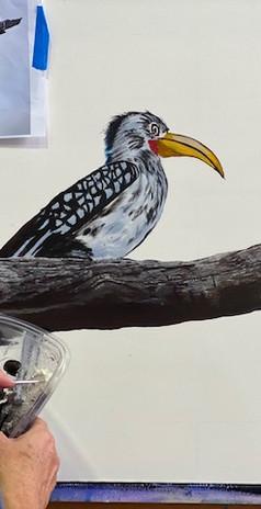 michelle painting hornbill.jpg