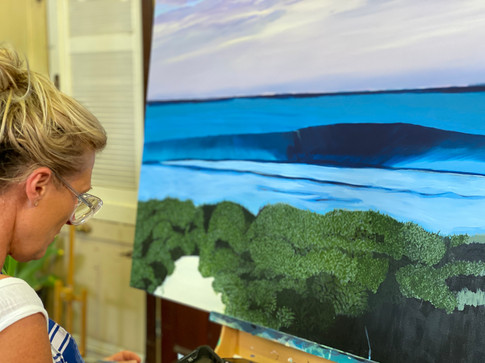 Sim painting strickland bay.jpg