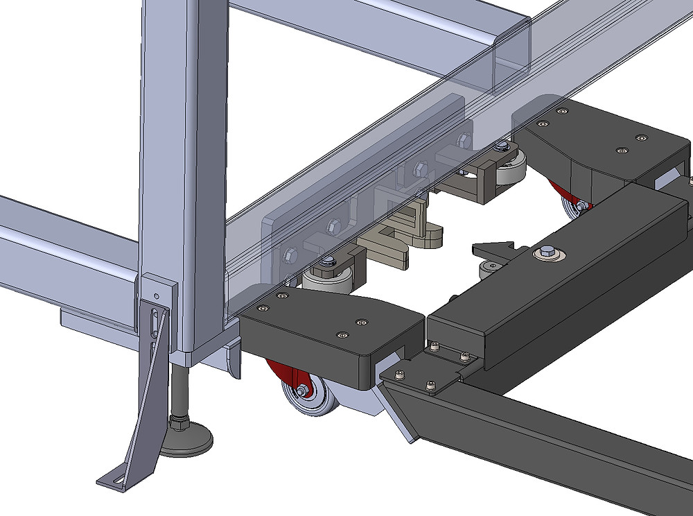 Hebehilfe ezzLIFTmaster - Verriegelung an der Werkzeugmaschine