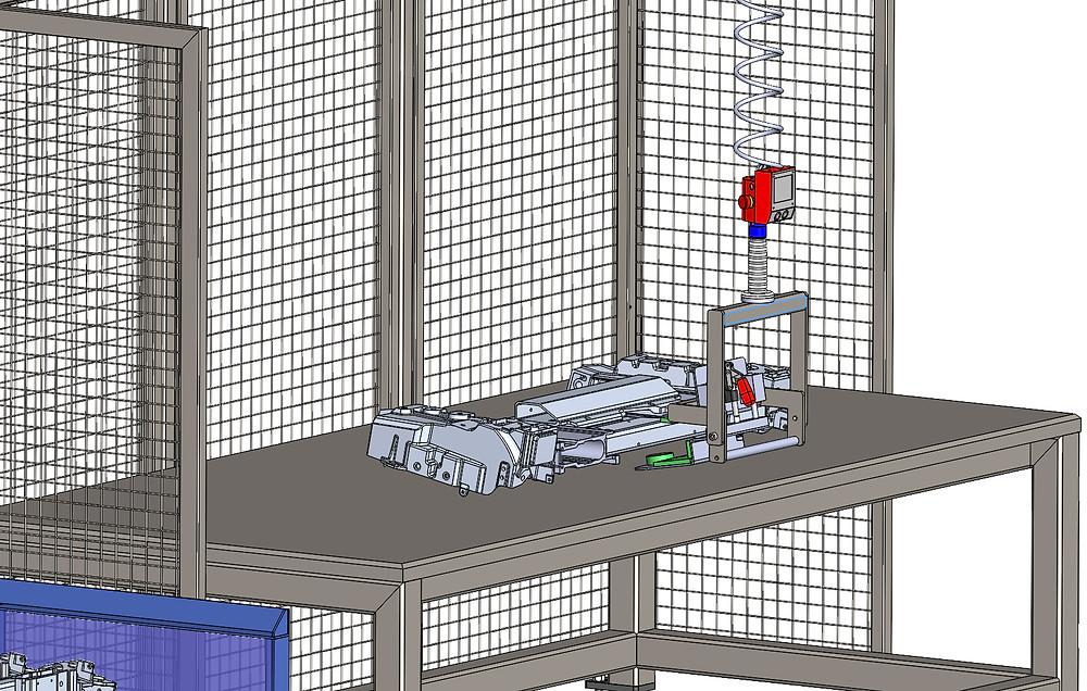 Der Balancer ezzFLOW beim Entladen eines Schweißroboters