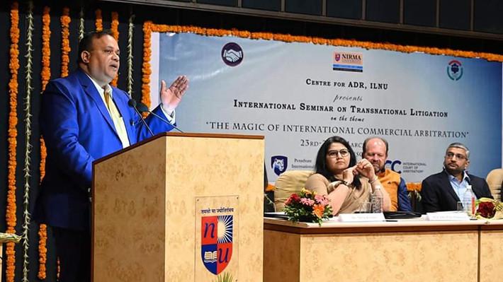 @Nirma University with Mr.Hiren Patel, MD Nirma Limited & Dean Ms.Purvi Pokhariyal