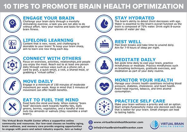 10 Tips to Promote Brain Health Optimiza