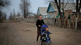 Kyrgyz kids play.