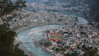 Bhagirathi river, one of the two headstreams of the river Ganges, winds through the town of Uttarkashi, a region prone to flash floods, in the northern Indian state of Uttarakhand, Monday, May 13, 2019. As the Ganges flows across the plains, its once clean and mineral rich water begins collecting toxic waste from the millions of people who depend on it, becoming one of the most polluted rivers in the world. Several billion litres of sewage, heavy metals, agricultural pesticides, human bodies and animal carcasses are dumped into the Ganges every day.