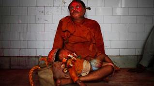 A Hindu devotee rests.