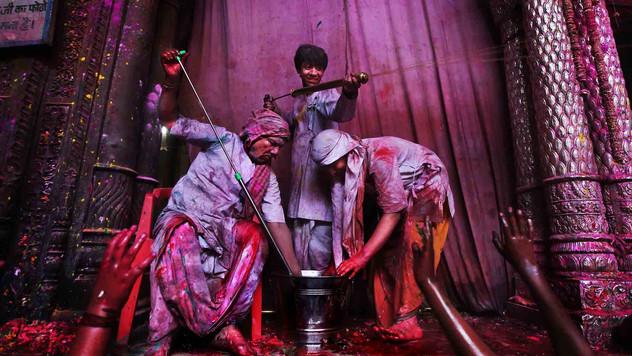 Hindu priests.