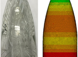 Stress analysis simulation to determine glass bottles failure