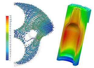 bottle design, mold design support, stress analysis, mold design training, forming simulation, cooling simulation