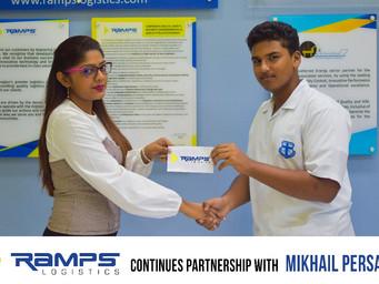 Ramps Logistics continues partnershipwith Mikhail Persaud