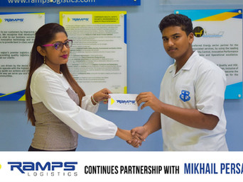 Ramps Logistics continues partnership with Mikhail Persaud
