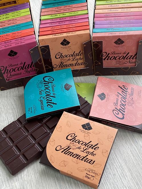 Barra Chocolate Sin Azúcar 35g 12 Und