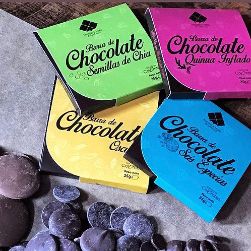 Barra Chocolate Sin Azúcar 35g