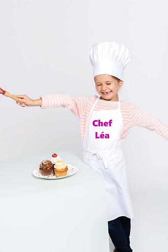 Kit chef cuisinier enfant personnalisé