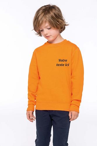 Pull coton enfant broderie personnalisée