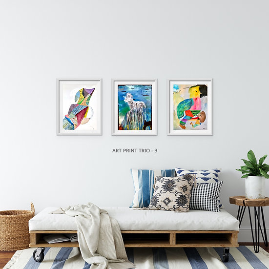 ART PRINT TRIO -3 - ART PRINTS