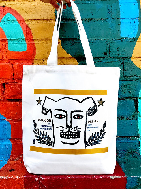Dog Man Tote Bag