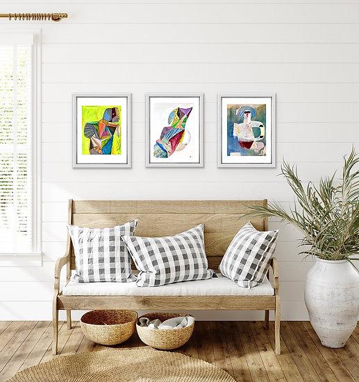 ART PRINT TRIO -4 - ART PRINTS
