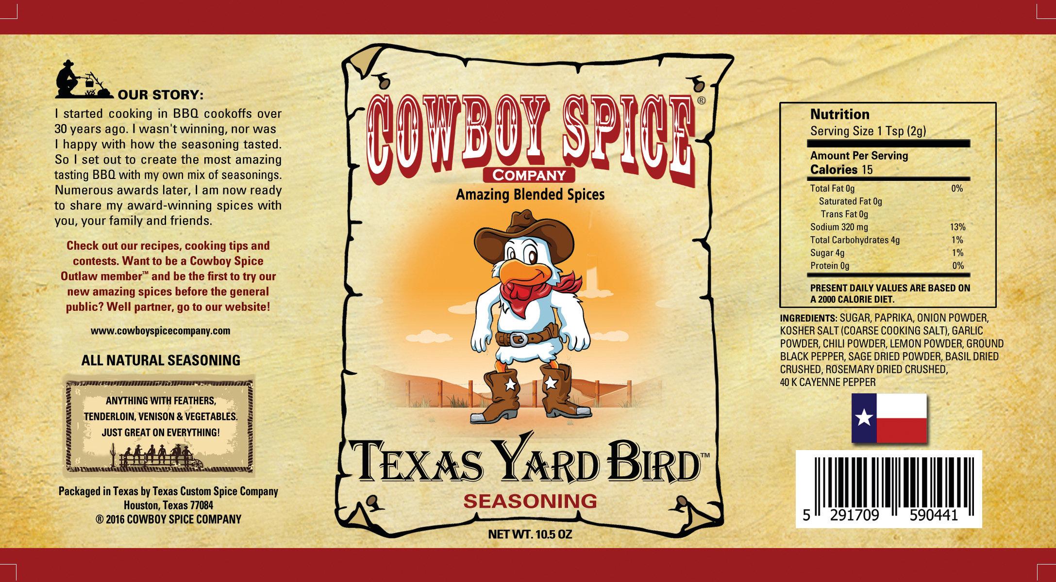 TEXAS YARD BIRD | cowboyspicecompany