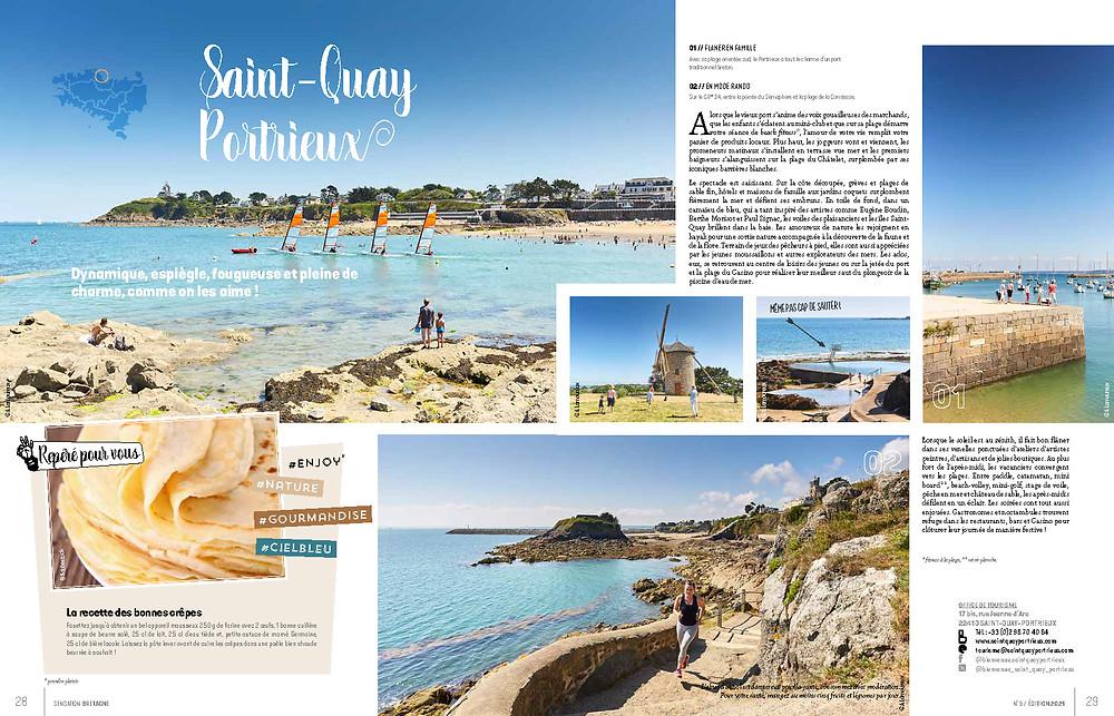 magazine de tourisme Saint-Quay Portrieux Bretagne Vacances à la mer randonnée crêpe