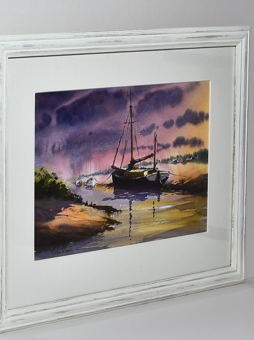 Sunset Behind Barge, Blakeney