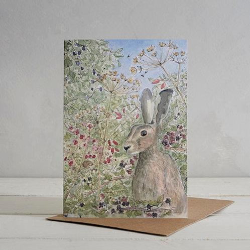 Hare Card by Helen Wiseman