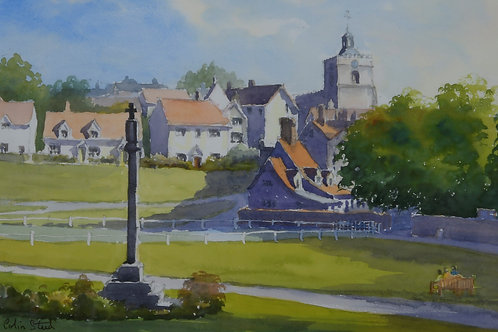 Finchingfield Village Painting