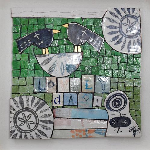 Bird - Lovely Day! - Mosaic Artwork