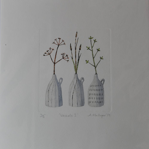 Vessels I 4/6 Drypoint